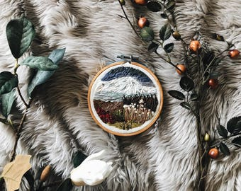 "Embroidery Hoop Art, ""Colors of Greenland"""