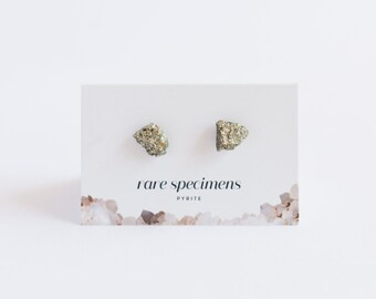 Stud Earrings - Pyrite