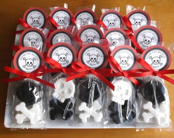 Pirate Party Favors - Pirate Favors, Pirate Birthday, Pirate Soap Favors, Skull Crossbones - Set of 20