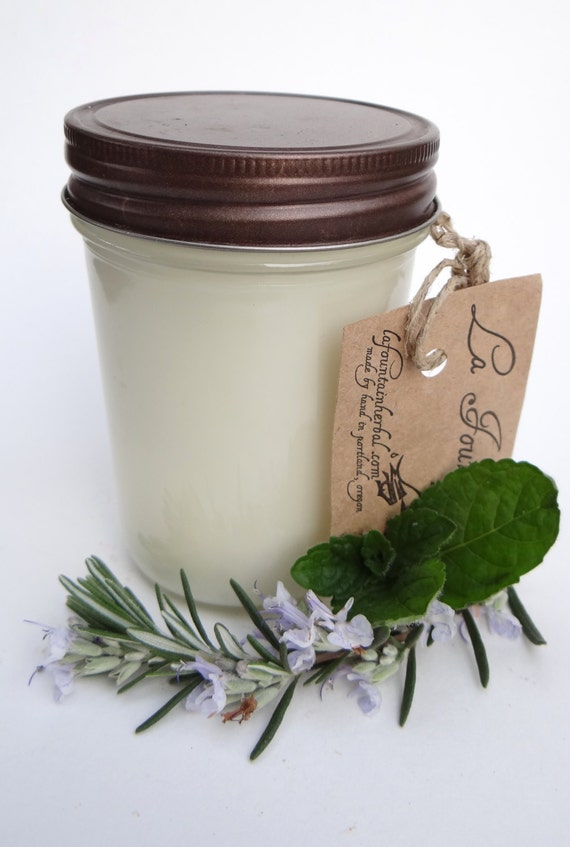 2 Organic Soy Candles - Handmade Candles