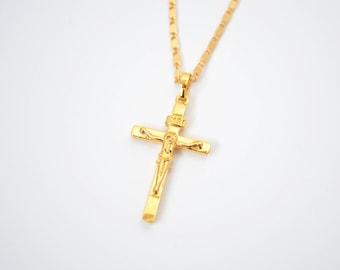 Dainty cross necklace small cross charm necklace gold cross necklace cross pendant necklace aloadofball Choice Image