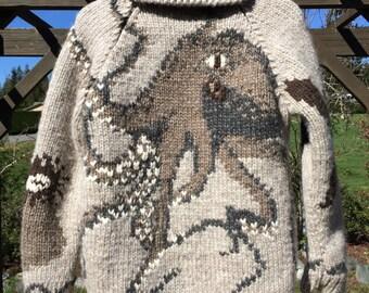 Salish Garden Sweater (Octopus)