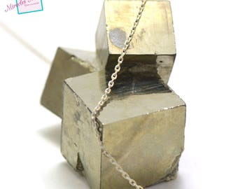 """chain """"2"""" rectangle 1 m x 1, 5 mm white/gold 03"""