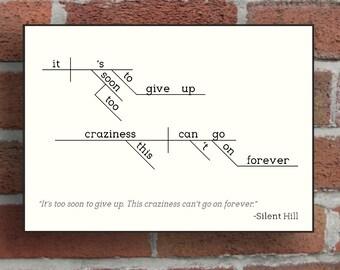 """5""""x7"""" Framed Print - Silent Hill Sentence Diagram"""