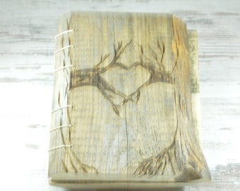 Wedding Guest Book Personalized Wooden Guest Book Love Heart Rustic Guestbook Custom Bride Groom Guestbook