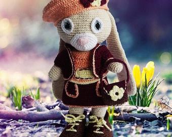 Emmy Bunny Crochet Pattern - Amigurumi Emmy Bunny Pattern
