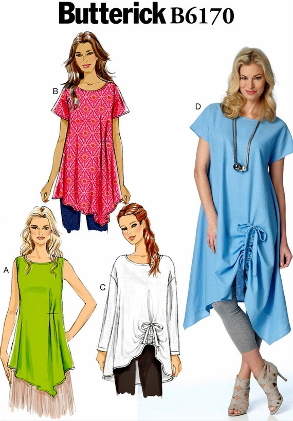Ladies Pullover Tunic Pattern, Easy Tunic Tops Pattern, Butterick ...