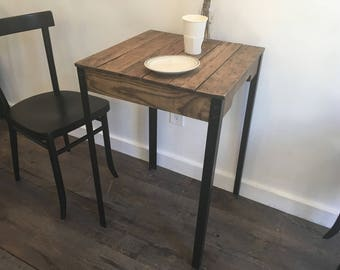 Industrial furniture wood and steel table