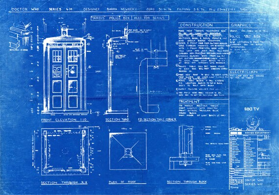 Tardis print poster dr who blueprint the tardis blueprint tardis print poster dr who blueprint the tardis blueprint art of the tardis whovian gift police box print art item 0101 malvernweather Image collections