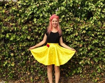 Belle inspired Disneybounding circle skirt