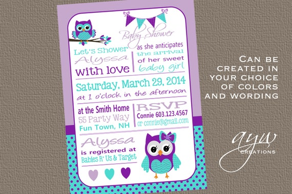 Owl baby shower invitation chevron unique owl baby shower owl like this item filmwisefo Images