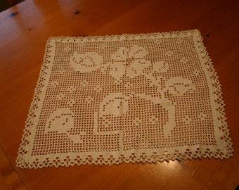Handmade Crocheted  Lace  Doilies
