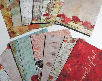Vintage inspired cards - use for junk journals, planners, mixed media, and scrapbooks - embellishment cards
