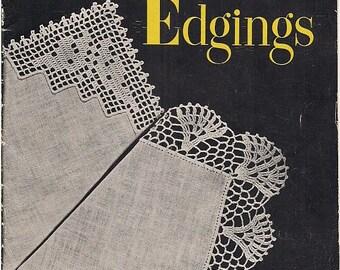 1948 Handkerchief Edgings - Star Book 61 - Romantic Accessories - Crochet Patterns - Retro Clothing