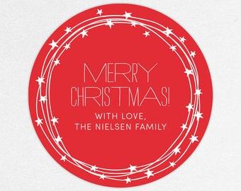 24 HOUR DIGITAL FILE, Holiday Gift Label, Christmas Gift Label, Holiday Gift Sticker, Christmas Gift Sticker, Holiday Gift Tag, Gift Tag