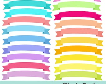 INSTANT DOWLOAD   20 digital ribbon banners  Personal and Commercial Use