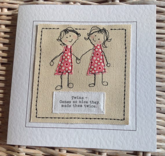 Twin sister birthday card with special quote to my twin like this item bookmarktalkfo Gallery