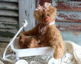 Handmade Collectible Artist Made Teddy Bear by avintageobsession on etsy...FREE USA Shipping