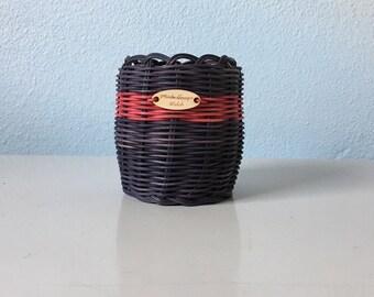 Black basket Hand Woven Basket: Authentic Native American Made decorative storage basket