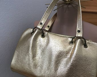 Vintage gold foil purse disco handbag