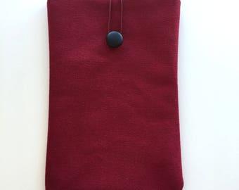 Clared Red Ipad Mini Case,Canvas Ipad Sleeve,Red Ipad Cover,Thick Canvas Ipad Case,Canvas Fabric,Ipad mini Case,Canvas Book Case