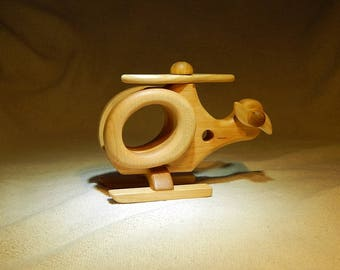 Wood BABY helicopter toy Educational Toy Waldorf Wooden toy