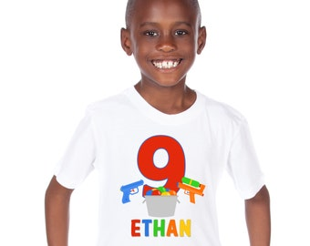 Personalized Water Fun Birthday Shirt - Personalized with Any Name and Age!
