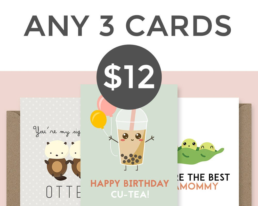 Buy any 3 cards and save 20 choose your own cards funny request a custom order and have something made just for you kristyandbryce Choice Image