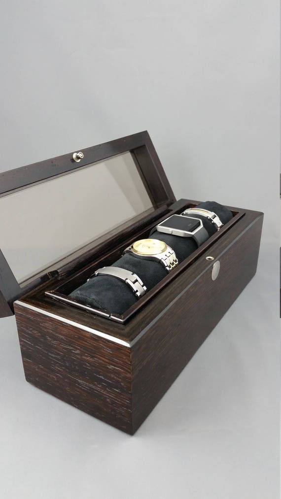 Luxury Wenge and Ebony Watch Box watch storage case watch