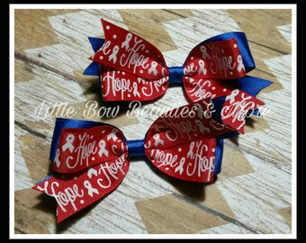 CHD Hope Awareness Pigtail Bow Set