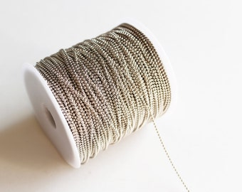 330ft Antique Silver Ball Chain Spool - 1.5mm - 100M - Ships IMMEDIATELY from California - CH603