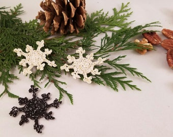 Crochet Pattern - Easy Snowflake