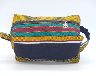 Kente Cloth Bag, African Ditty Bag, Dopp Kit, Travel Bag, Toiletry Bag, Pencil Case, Makeup Bag, Zip Pouch, Shave Kit