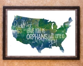 Home Decor - Adoption - USA Graphic Art