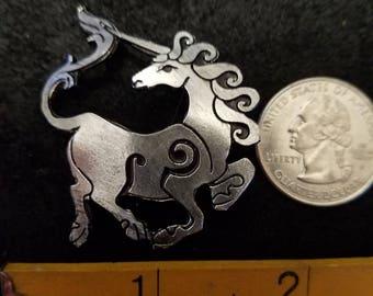Unicorn Single animal pin ,Pewter