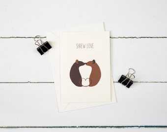 Shrew Love greetings card