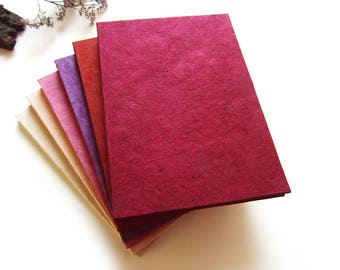 "Accordion Photo Album ""Nature"" white, pink, red & violet"