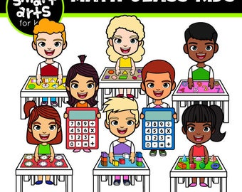 Math Class Kids Clip Art- Cartoon - digital graphics - instant download - SVG - Vector - png clipart - math class