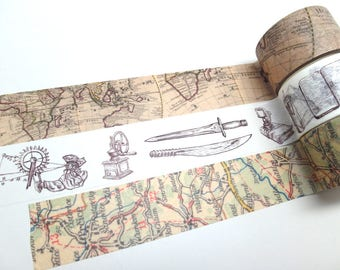Vintage World Map - Old European Map - Antique Objects Washi Tape
