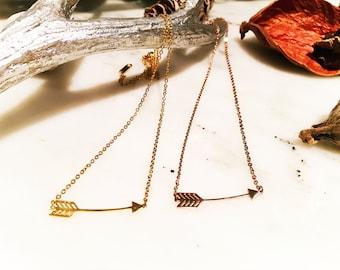 Arrow necklace, Rose gold arrow Necklace, gold arrow necklace, delicate necklace, gift for her,  gift for mom, gift for women,christmas gift