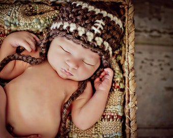 Newborn Photo Prop Baby Boy Football Hat