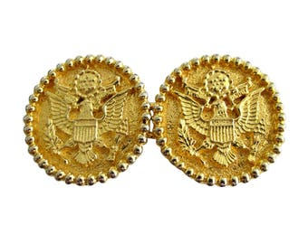 Mimi di N Gold Plated American Eagle Great Seal of the United States Belt Buckle 1975