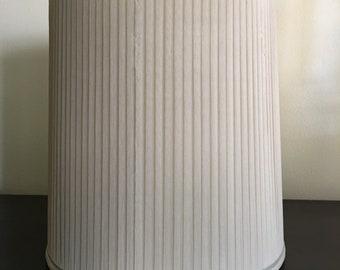 Vintage Pleated Silk Lamp Shade /  Fabric Lampshade