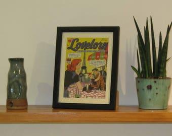 Framed postcard - Lovelorn #2