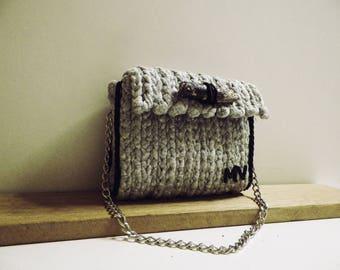 Crochet bag, Handmade bag, Silver Bag, Shoulder bag, Luxury bag, Woman Gift, Woman accessory, Women Bag, Red Crochet Bag, Gift for her