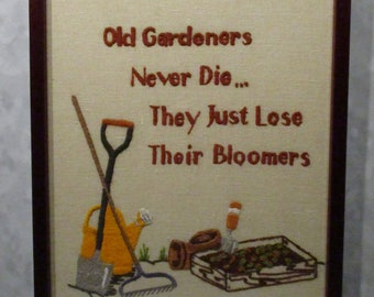 Crewel embroidery for gardeners