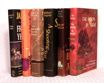 6 Unread Novels From The 1950's with GREAT DUST JACKETS.