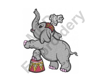 Elephant - Machine Embroidery Design, Circus Elephant