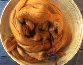 Topaz Bamboo Top Roving Spinning Fiber - 4 ounces