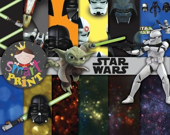 Star wars-Digital Papers Star wars-Free Clip Art-Scrapbook supplies-Birthday Party-Invitation-Background Papers.